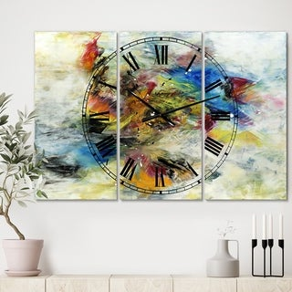 Designart 'Follow Your Dreams' Large Modern Wall Clock - 3 Panels - 36 in. wide x 28 in. high - 3 Panels