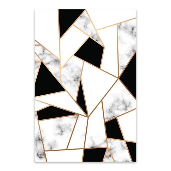 Noir Gallery Marble Abstract Geometric Metal Wall Art Print