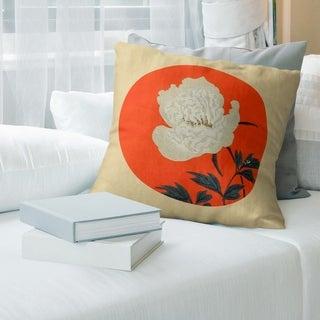 Porch & Den Keito Sato 'Vintage Japanese Flower Painting' Throw Pillow
