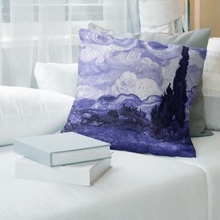 Porch & Den Vincent Van Gogh 'Wheatfield with Cypresses' Throw Pillow