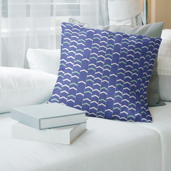 Porch & Den Athens Two-tone Lined Chevrons Throw Pillow