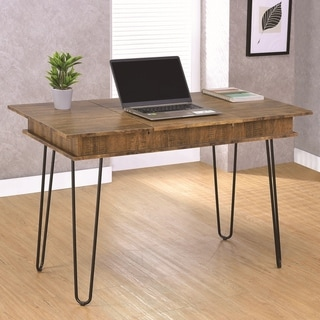Industrial Design Office Computer Writing Desk with Flip Top Storage