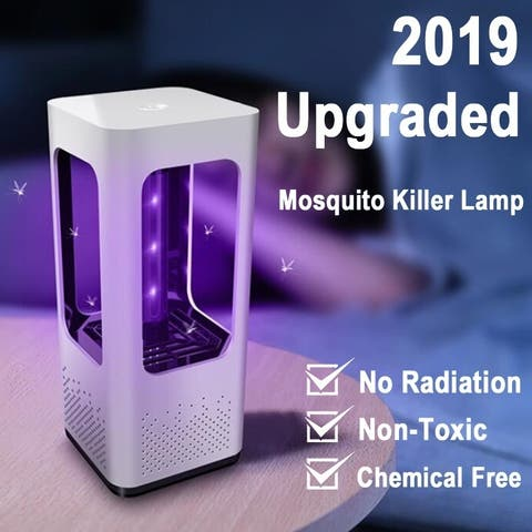 USB Charging LED Electric Bug Zapper Fly & Mosquito Killer Insect Bug Trap Lamp Household Fly Repellent - Purple