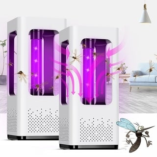 2PCS USB Charging LED Electronic Bug Zapper Fly Mosquito Killer Insect Bug Lamp Household Bedroom Fly Repellent - White