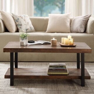 Carbon Loft Wyldeck Natural Coffee Table with Open Shelf