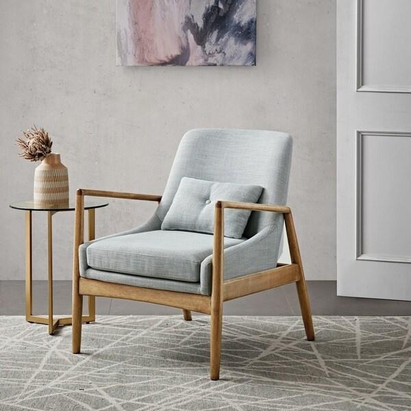 Shop Madison Park Sherlock Seafoam Marl Accent Chair 29