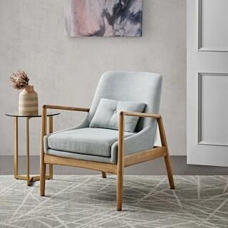 "Madison Park Sherlock Seafoam Marl Accent Chair - 29.75""W x 30"" D x 32.25""H"