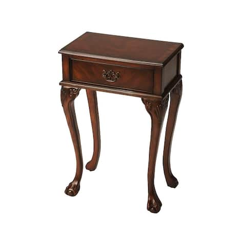 Butler Dumont Traditional Plantation Cherry Rectangular Console Table - Dark Brown