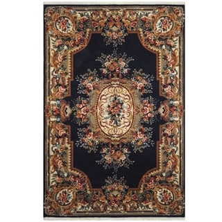Handmade One-of-a-Kind Aubusson Wool Rug (Pakistan) - 5'9 x 8'10