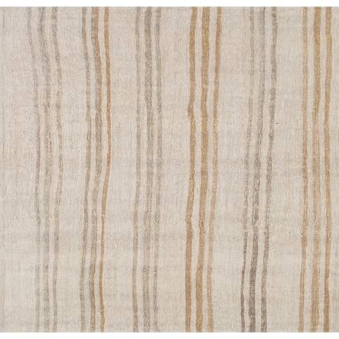 "Pasargad Home Vintage Kilim Style Hand-Woven Hemp Area Rug - 5'11"" X 6' 1"""
