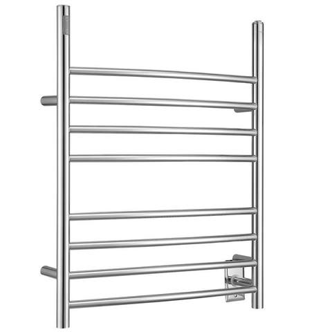 Ancona Imperia 3-in-1 8-Bar Polished Towel Warmer with On-Board Timer