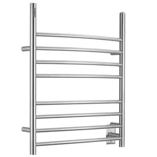 Ancona Imperia 3-in-1 8-Bar Brushed Towel Warmer with On-Board Timer