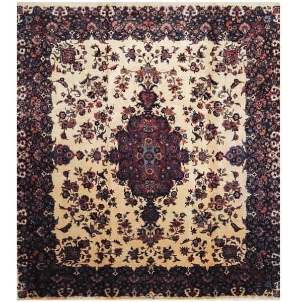 Handmade One-of-a-Kind Mashad Wool Rug (Iran) - 11'7 x 12'7
