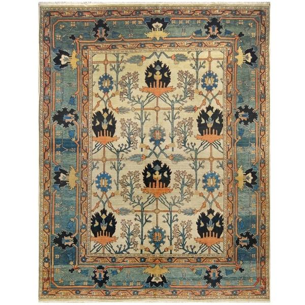 Handmade One-of-a-Kind Mahal Wool Rug (India) - 9'10 x 12'10