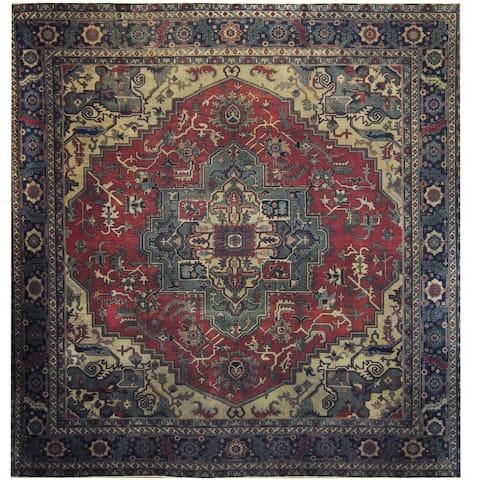 Handmade One-of-a-Kind Serapi Wool Rug (Turkey) - 11'8 x 11'8