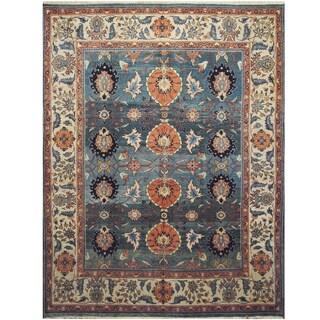 Handmade One-of-a-Kind Mahal Wool Rug (India) - 9'8 x 12'6