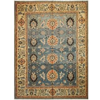 Handmade One-of-a-Kind Mahal Wool Rug (India) - 9'6 x 12'9