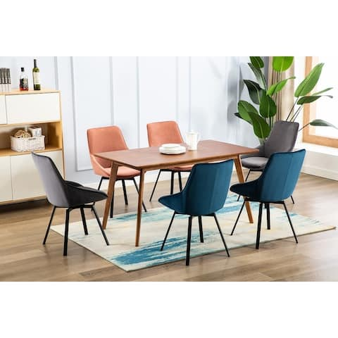 Porthos Home Naila Fabric Dining Chairs Set of 2, Swivel & Suede Upholstery Seat