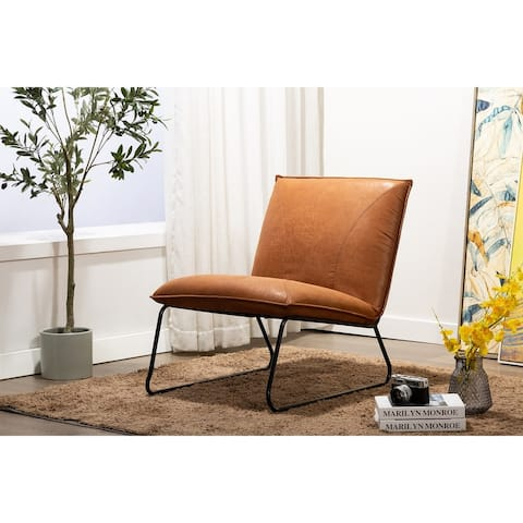 Porthos Home Quyen Armless 1 Sofa Seat, Suede Upholstery, Steel Legs