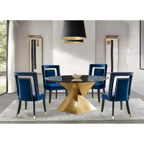 Gracewood Hollow Dhruv Velvet-upholstered Dining Chairs (Set of 2)