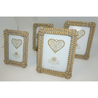 Sophia Rae Gold Decorative Rope Picture Frame Set of Four