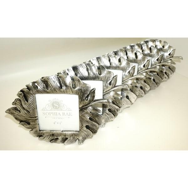 Sophia Rae Leaf Silver Picture Frame Set of Six Individual Frames