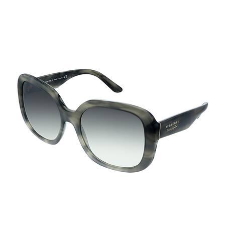 2d9a3f4ae286 Burberry BE 4259 36586I Womens Grey Havana Frame Grey Mirror Lens Sunglasses