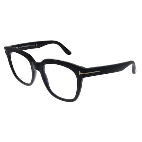 Tom Ford FT 5537-B 001 Womens Black Frame Eyeglasses 52mm