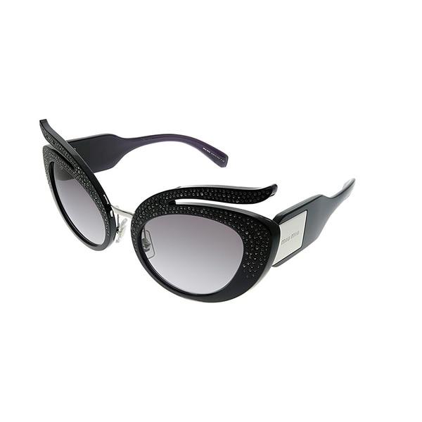 aefcd782e Miu Miu MU 04TS 07H3E2 Womens Purple Frame Grey Gradient Lens Sunglasses