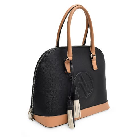 Adrienne Vittadini Signature Trapunto Collection Dome Satchel