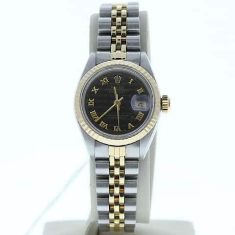 Rolex Model 6917 26mm Datejust Steel & Gold Jubilee Band Black Pyramid Dial