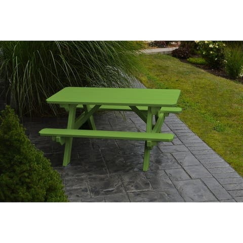 Kid's Picnic Table with Attached Benches