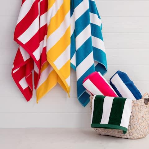 Porch & Den Rosina Oversized 2-Piece Cabana Beach Towel Set