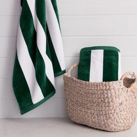 The Welhome Luxury Oversized 2-Piece Cabana Beach Towel Set - 40x72