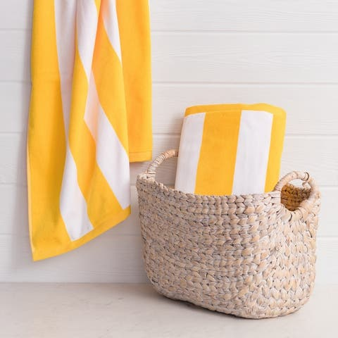 The Welhome Luxury Oversized 2-Piece Cabana Beach Towel Set - 40x72