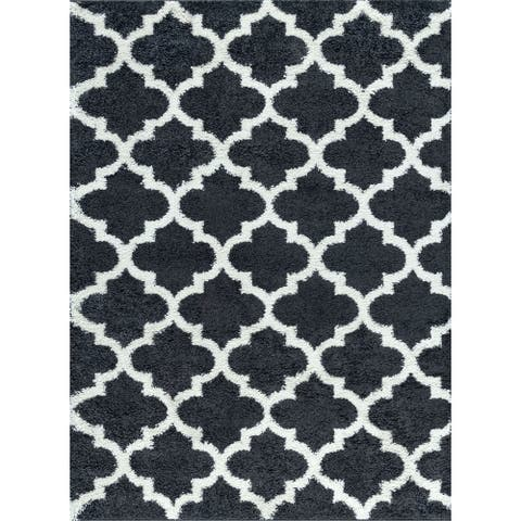 Alise Rugs Saruca Shag Contemporary Moroccan Tile Area Rug