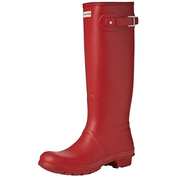 Hunter Womens Original Tall Snow Boot - Military Red - Size 7. Opens flyout.