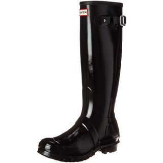 Link to Hunter Womens Original Tall Gloss Rain Boots - Black - Size 8 Similar Items in Women's Shoes
