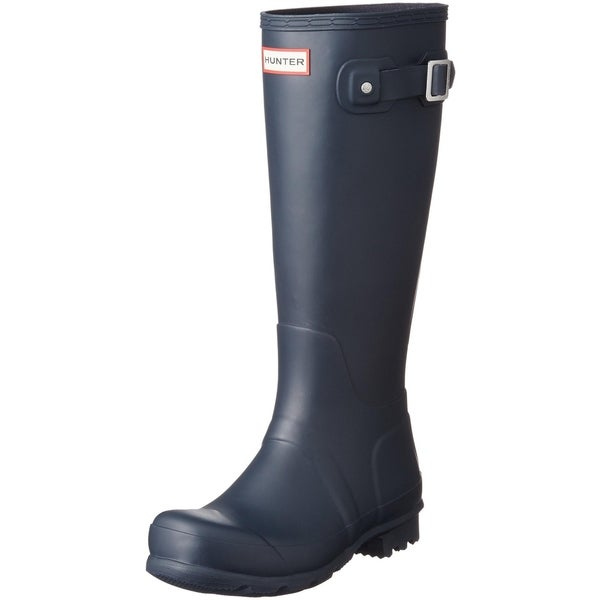 Hunter Womens Original Tall Snow Boot - Navy - Size 6. Opens flyout.