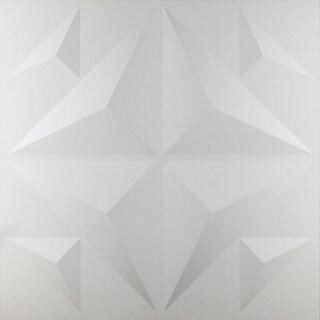 """19 5/8""""W x 19 5/8""""H Crystal EnduraWall Decorative 3D Wall Panel"""