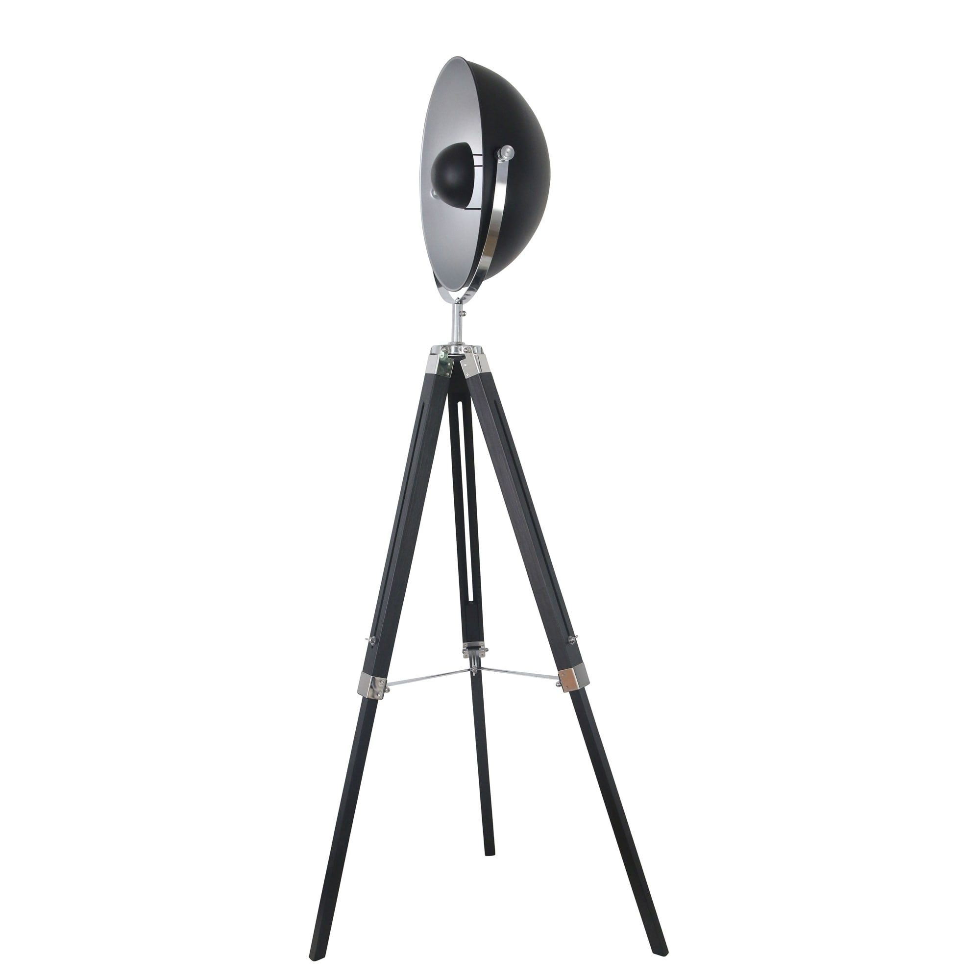 Tripod Spot Light Floor Lamp Black