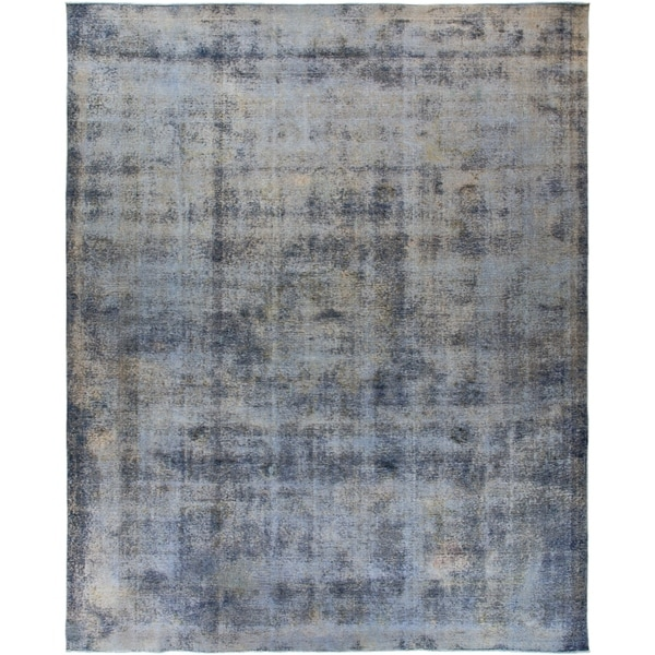 "Vintage, Hand Knotted Area Rug - 9' 9"" x 12' 4"" - 9' x 12'"