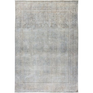 "Vintage, Hand Knotted Area Rug -   6' 7"" x 9' 4"" - 6' x 9'"