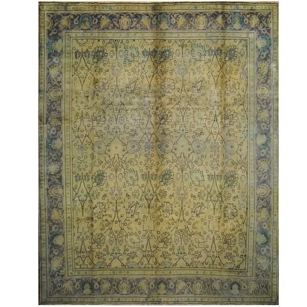Handmade One-of-a-Kind Tabriz Wool Rug (Iran) - 10' x 12'5