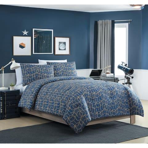 VCNY Home Ironclad Geometric Duvet Cover Set