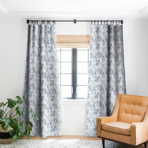 Deny Designs Imaginary Flowers Blackout Curtain Panel (2 Size Options)