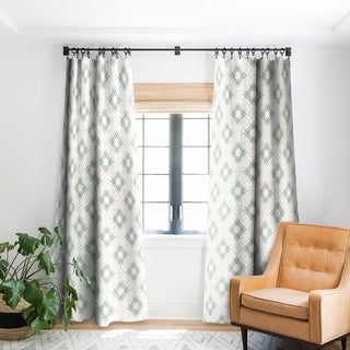 Deny Designs Watercolor Shibori Boho Blackout Curtain Panel 84' Inches (As Is Item)