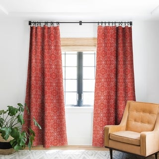 Deny Designs Forest Maze Red Blackout Curtain Panel (2 Size Options)