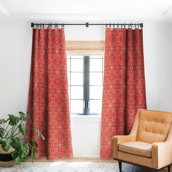 Deny Designs Forest Maze Red Blackout Curtain Panel (2 Size Options). Opens flyout.
