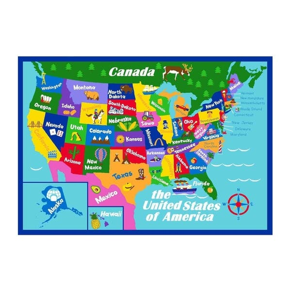 Map Of Georgia For Kids.Shop Educational Usa States Map Princess World Reversible Kids